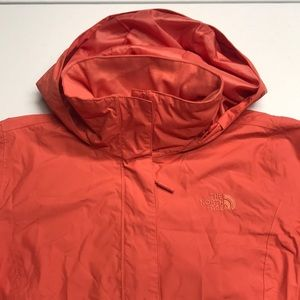 🆕 NORTH FACE Women's Orange Waterproof Rain Coat